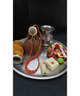 Multicolor jeweled rakhi
