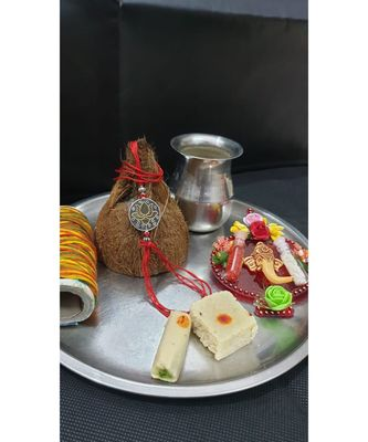 Multicolor jeweled rakhi