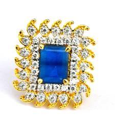 Saphire Diamond Cocktail Ring