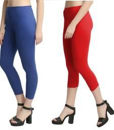 Multicolor plain cotton leggings
