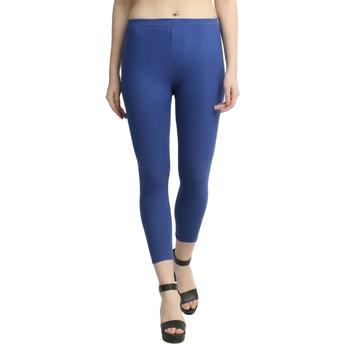 Blue plain cotton leggings