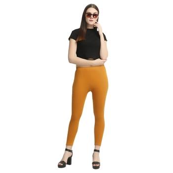 Brown plain cotton leggings
