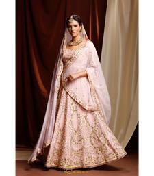 pink embroidered silk readymade lehenga cholis