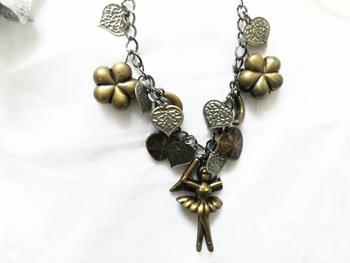 Ballet dancer necklace