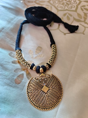 Antique Gold Plated Tassel Necklace