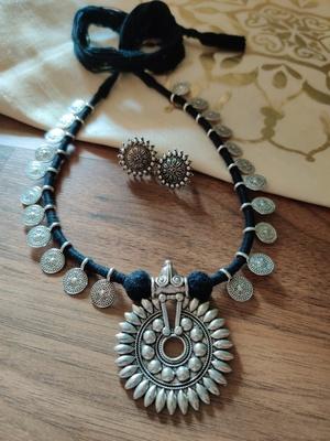 Sun Flower pendant Necklace set