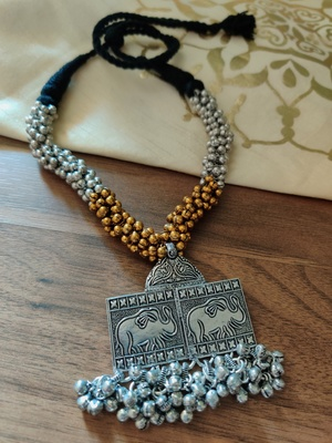 TwoTonned Antique Ghunghuru Necklace