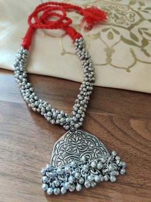 Red Ghunghuru Tribal Necklace