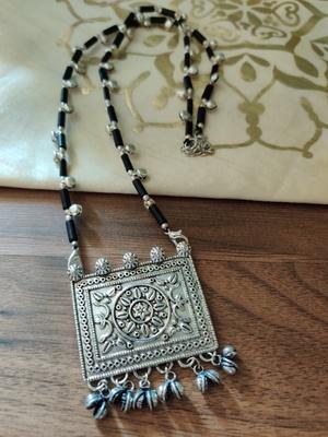 Black Tribal stone Necklace set