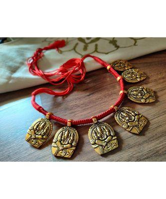 Beautiful Ganpati Pendant Gold Plated Necklace