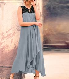 Grey Georgette Pakistani Kurtis