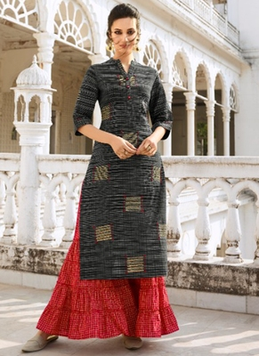 Black Rayon Kurtas And Kurtis