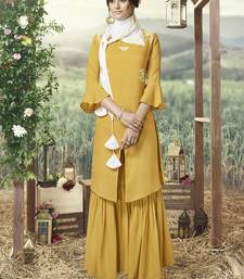 Yellow Silk Blend Kurtas And Kurtis