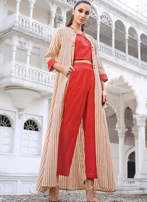 Off White Rayon Kurtas And Kurtis