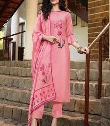 Pink Silk Blend Ethnic Kurtis