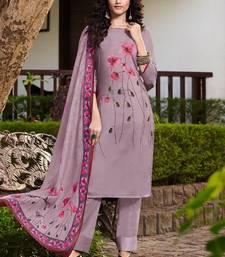 Lavender Silk Blend Ethnic Kurtis