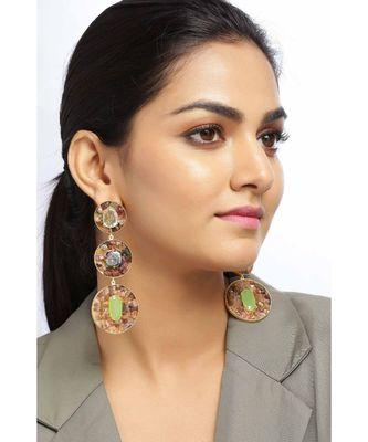 Tourmaline Earth Orbs  earrings