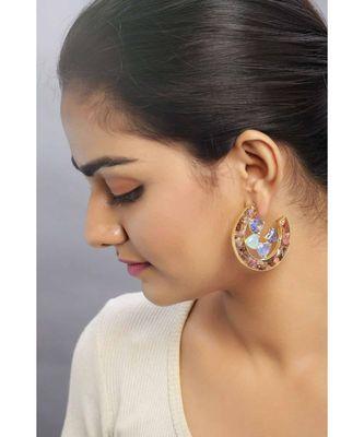 Cosmic Gem Crater earrings