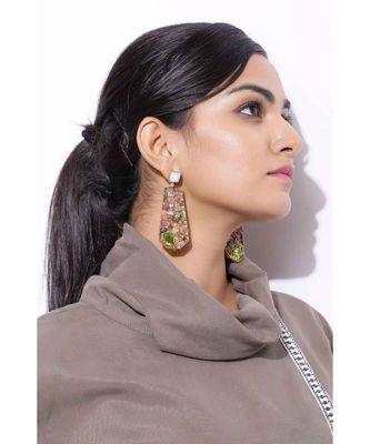 Fern Tourmaline Flair earrings