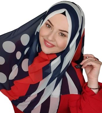 Justkartit Islamic Wear Georgette Printed Hijab Scarf Dupatta