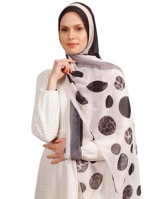 Justkartit Casual Wear Animal Printed Polka Dot Strips Georgette Scarf Hijab