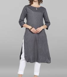 Women's Grey Rayon Kurta