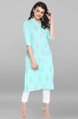 Indian Women's green Pure Cotton Kurta