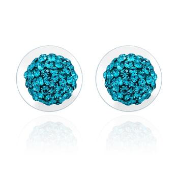 Mahi Sparkling Studs Rhodium Earrings