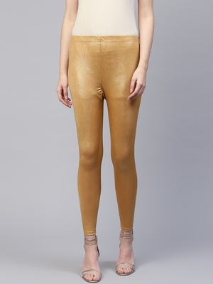 Pinksky Gold plain cotton leggings