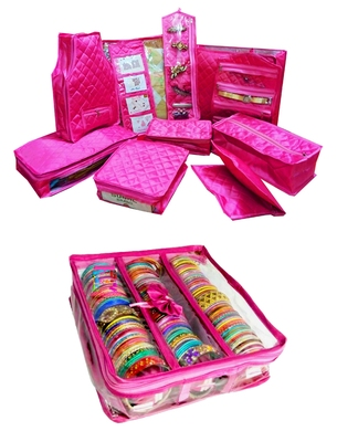 Atorakushon Bangle box & Marriage Set Saree Blouse Cover Dulhan set Storage Organizer Jewellery  Make Up Kit set of 2