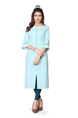 Khadi Cotton kurti for Women Blue
