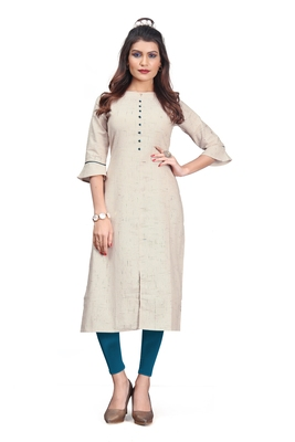 Khadi Cotton kurti for Women Beige