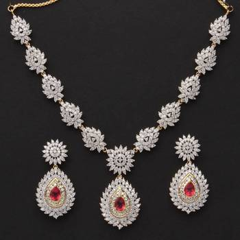 CZ Diamond Necklace Set