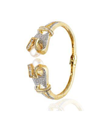 smart look pearl diamond bracelet
