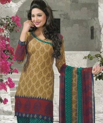 Crepe dress material elegant designer unstitched salwar suit d.no 5152