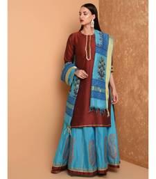 Set of Silk Kurta with Chanderi Skirt and dupatta
