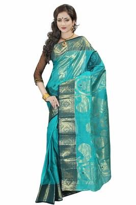 Exclusive Designer Turquoise saree