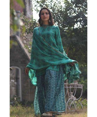 emerald suit set