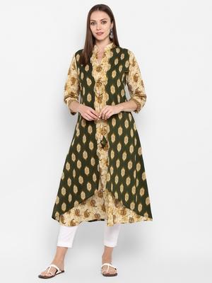 womens Multicolored Cotton Printed Kurta