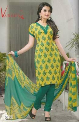 Crepe dress material elegant designer unstitched salwar suit d.no 5163