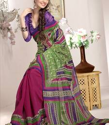 Buy Multicolor woven art silk saree with blouse half-saree online
