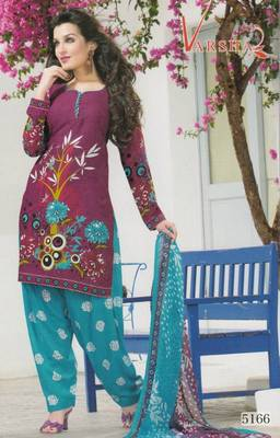 Crepe dress material elegant designer unstitched salwar suit d.no 5166