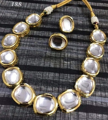 Gold Big kundan necklace-sets