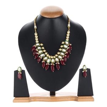 Designer Maroon agate necklace-sets