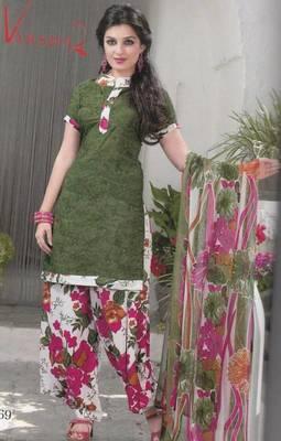 Crepe dress material elegant designer unstitched salwar suit d.no 5169