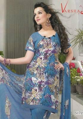 Crepe dress material elegant designer unstitched salwar suit d.no 5172