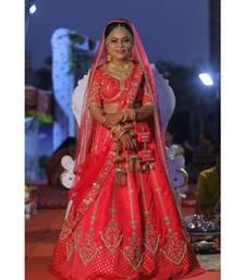 Red Raw Silk Wedding Wear Bridal Lehenga Choli