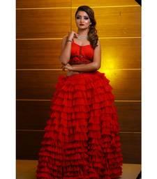 Red Party Wear Lehenga Choli