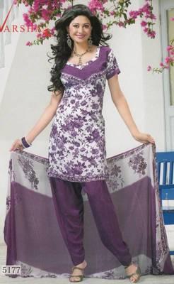 Crepe dress material elegant designer unstitched salwar suit d.no 5177