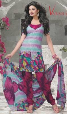 Crepe dress material elegant designer unstitched salwar suit d.no 5182